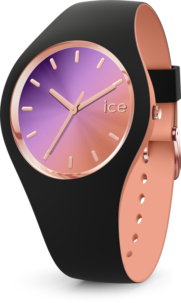 ICE WATCH Duo Chic Black Purple Medium 3H