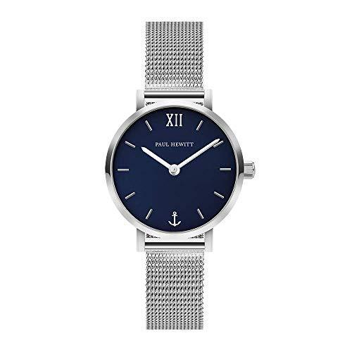 Paul Hewitt Modest Blue Lagoon Silver Mesh Watch