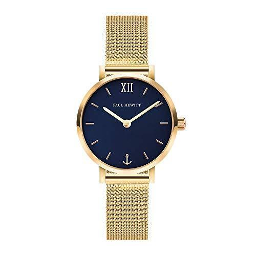 Paul Hewitt Modest Blue Lagoon Gold Mesh Watch