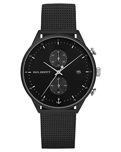 Paul Hewitt Chrono Black Sunray Mesh Watch