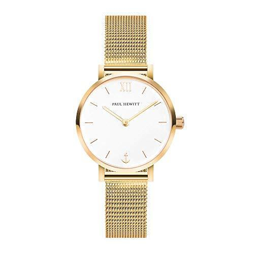 Paul Hewitt Modest White Sand Gold Mesh Watch