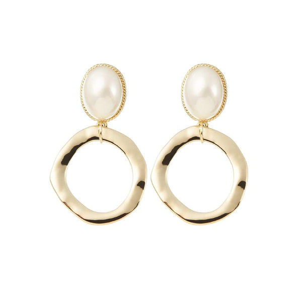 AMELIE GEORGE - Maleny Gold Large Pearl Statement Earring