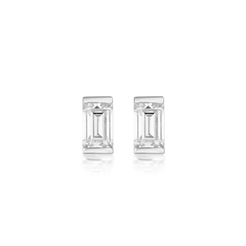 Georgini - Mosaic Baguette Sterling Silver Cubic Zirconia Stud Earrings