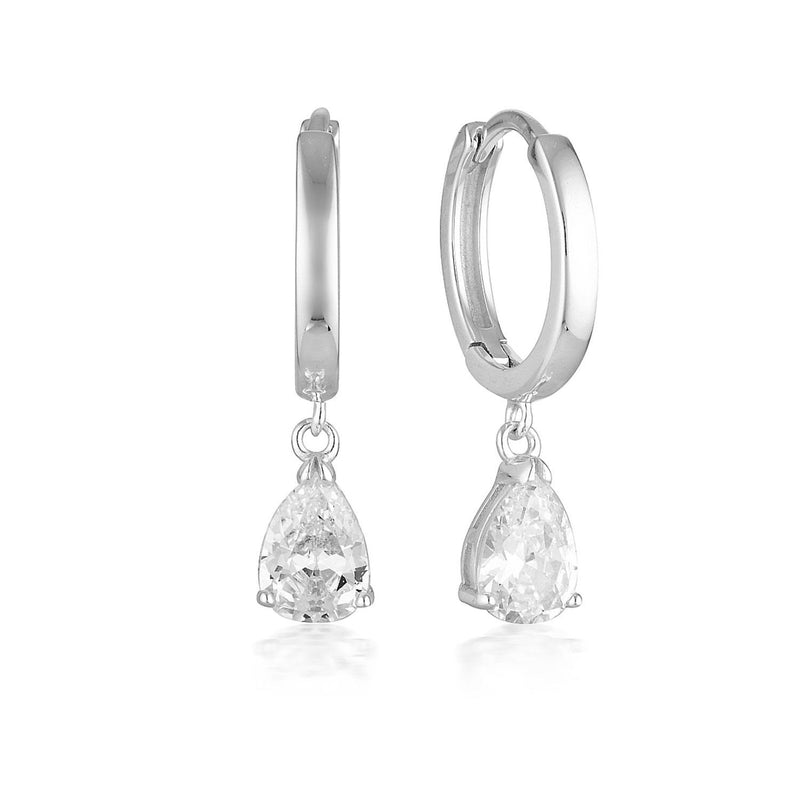 Georgini - Pia Sterling Silver Cubic Zirconia Hoop Earrings