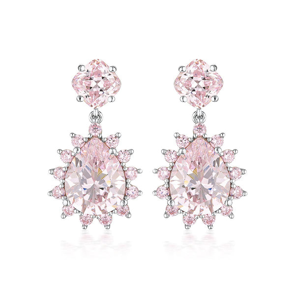 Georgini Luxe Velluto Earrings Pink / Silver