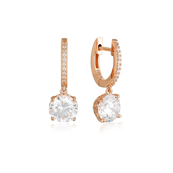 Georgini Luxe Regale Earrings Rose Gold