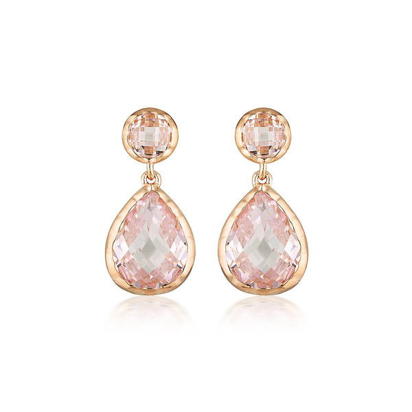 Georgini Luxe Nobile Earrings Pink / Rose Gold