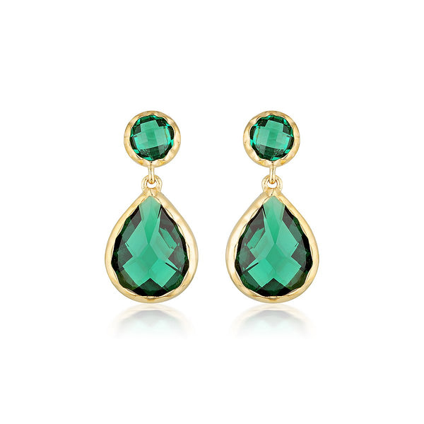 Georgini Luxe Nobile Earrings Green / Gold