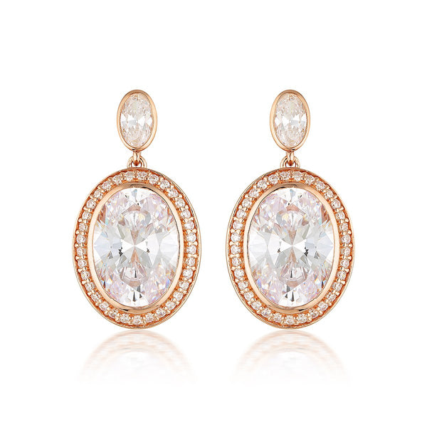 Georgini Luxe Grandenzza Earrings Rose Gold