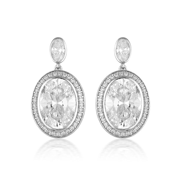 Georgini Luxe Grandenzza Earrings Silver