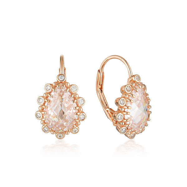 Georgini Luxe Oppulenza Earrings Rose Gold