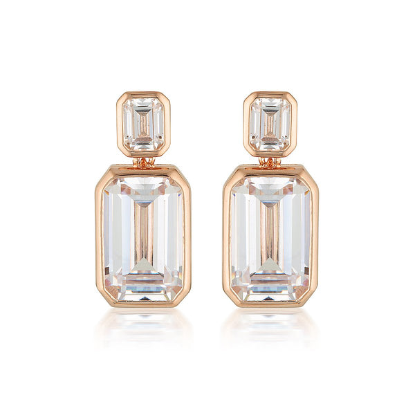 Georgini Luxe Sontuosa Earrings Rose Gold