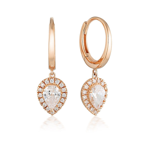 Georgini Luxe Splendore Earrings Rose Gold