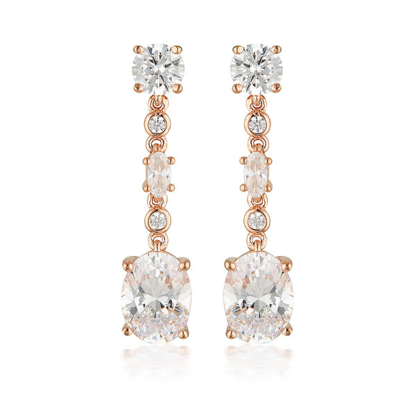 Georgini Luxe Lusso Earrings Rose Gold
