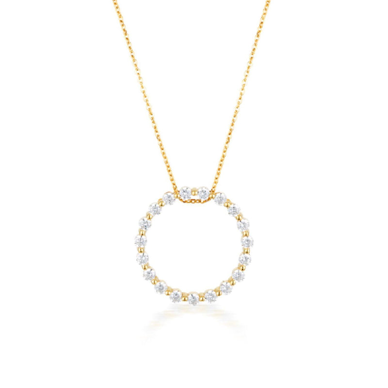 Georgini - Circle Of Life Gold Cubic Zirconia Necklet