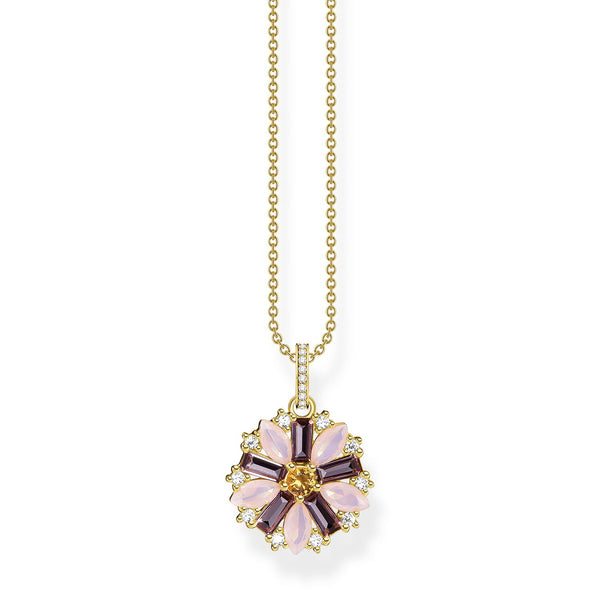 Thomas Sabo Necklace Flower Gold