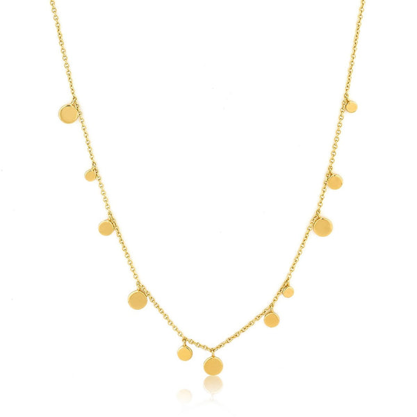 ANIA HAIE - Gold Geometry Mixed Discs Necklace