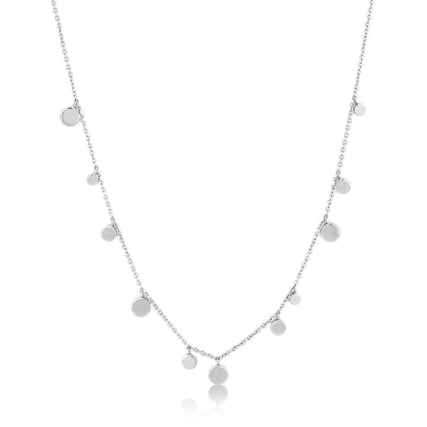 ANIA HAIE - Silver Geometry Mixed Discs Necklace