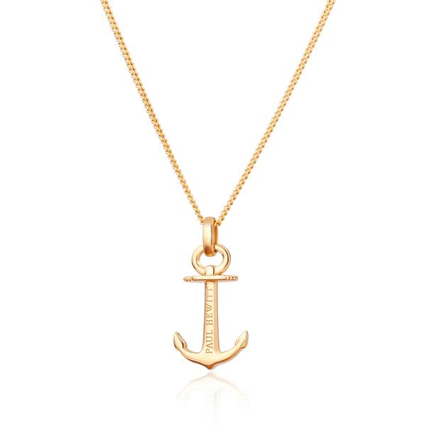 Paul Hewitt Anchor Spirit Gold Necklace
