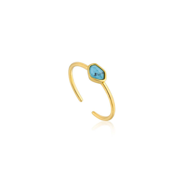 Ania Haie Mineral Gold Turquoise Adjustable Ring