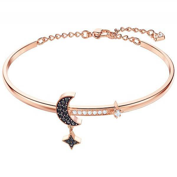 Swarovski Rose Duo Moon Star Bangle