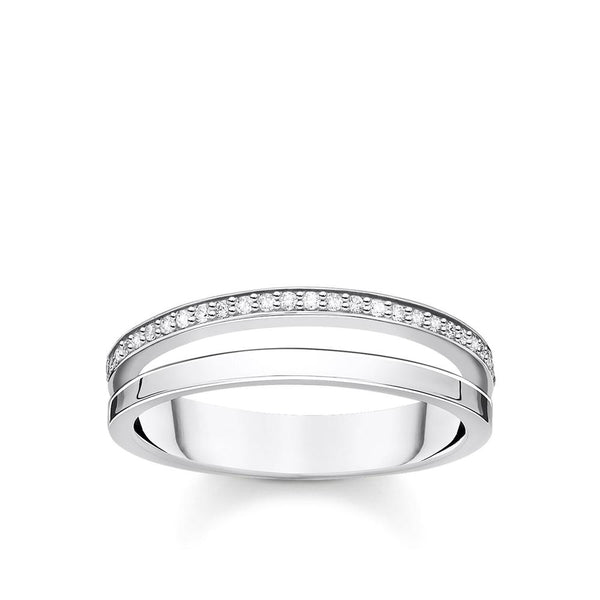 THOMAS SABO - CZ Double Band Ring