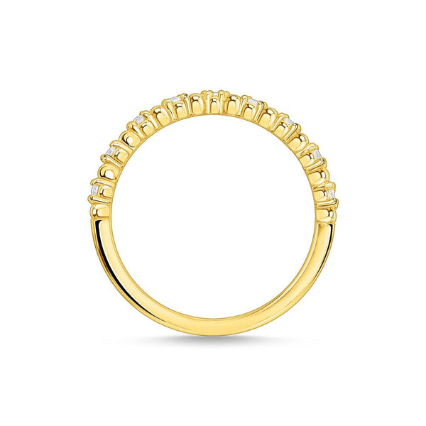 THOMAS SABO - Fine CZ Cross Yellow Gold Ring