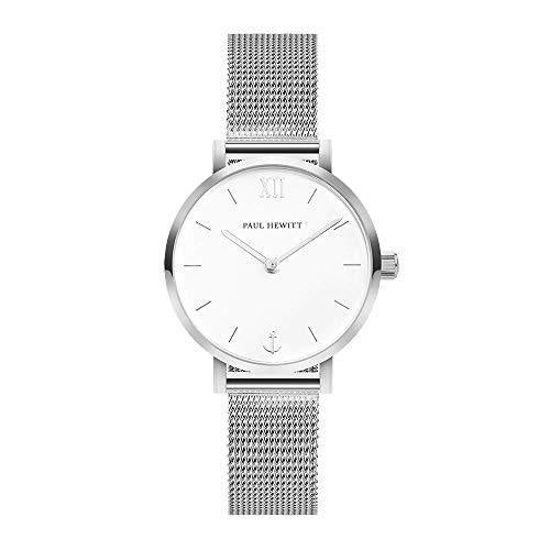Paul Hewitt Modest White Sand Silver Mesh Watch