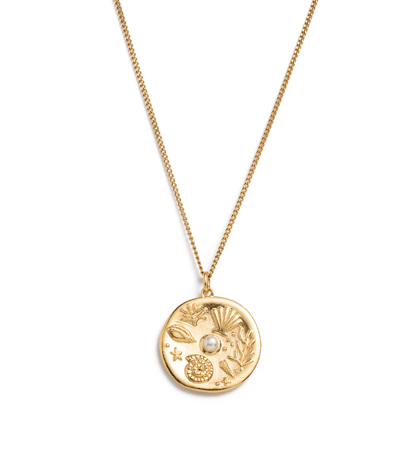 KIRSTIN ASH - By the Sea Coin Gold Vermeil Necklace