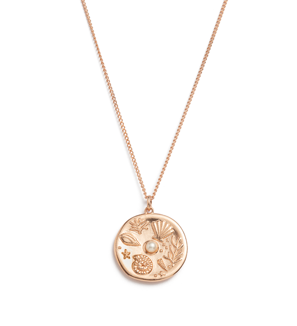 KIRSTIN ASH - By The Sea Coin Rose Gold Vermeil Necklace