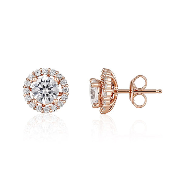 Georgini Heirloom Esteem Earrings Rose Gold