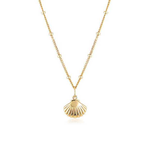 El & Ro - Scallop Shell Gold Necklace