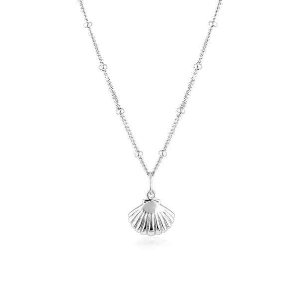 El & Ro - Scollop Shell Silver Necklace