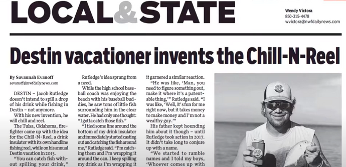 Destin vacationer invents the Chill-N-Reel (NW Florida Daily News)