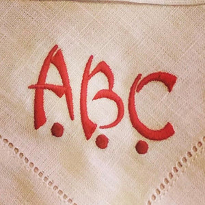 Custom Monogrammed Dinner Napkin for Pursley