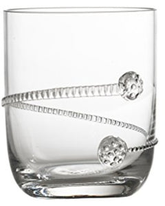 Stemless Cocktail Glass with Applied Rope Design