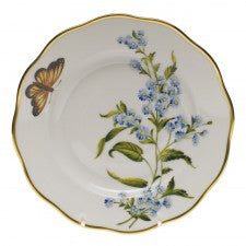 Herend American Wildflowers Salad Plate, Blue Wood Aster