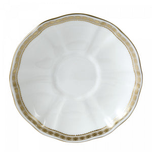 Royal Crown Derby Carlton Gold Saucer