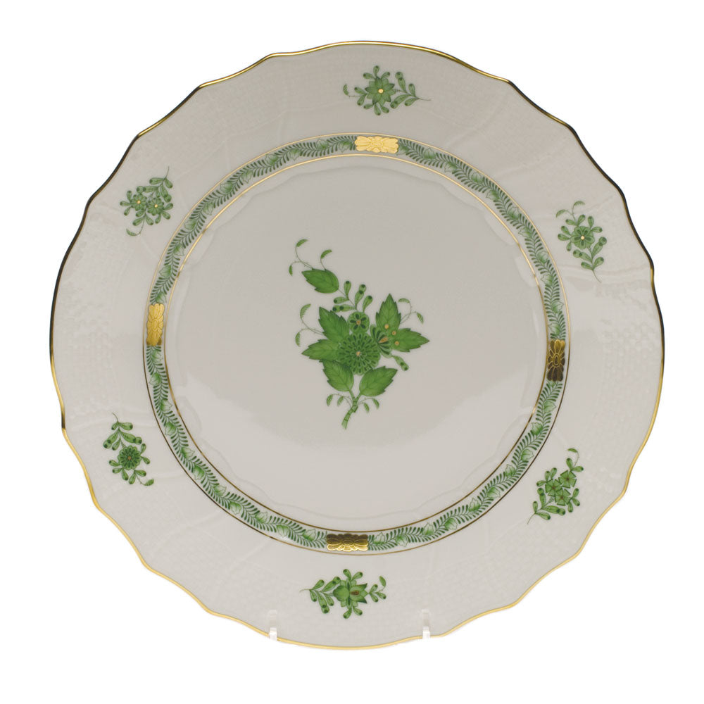 Herend Chinese Bouquet Round Platter, Green