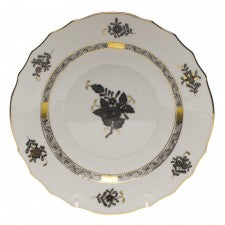 Herend Chinese Bouquet Salad Plate, Black
