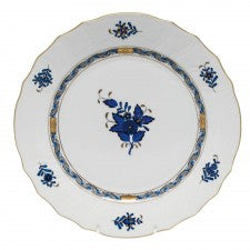 Herend Chinese Bouquet Dinner Plate, Black Sapphire