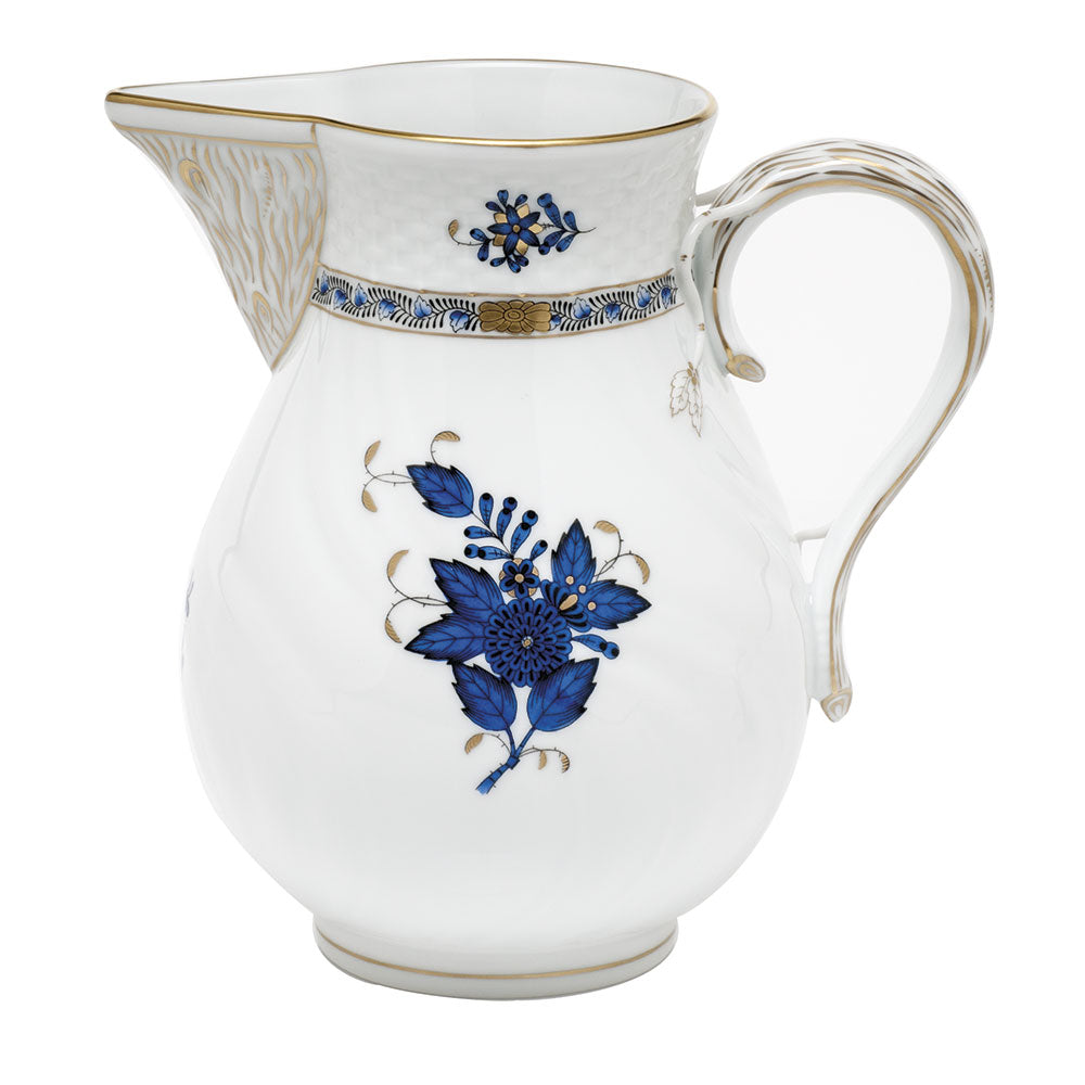 Herend Chinese Bouquet Pitcher, Black Sapphire