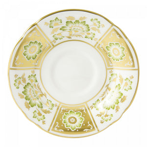 Royal Crown Derby Derby Panel Green Saucer