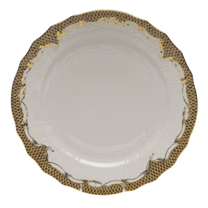 Herend Fish Scale Service Plate, Brown