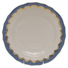 Herend Fish Scale Dessert Plate, Blue