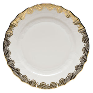 Herend Fish Scale Gold Dinner Plate