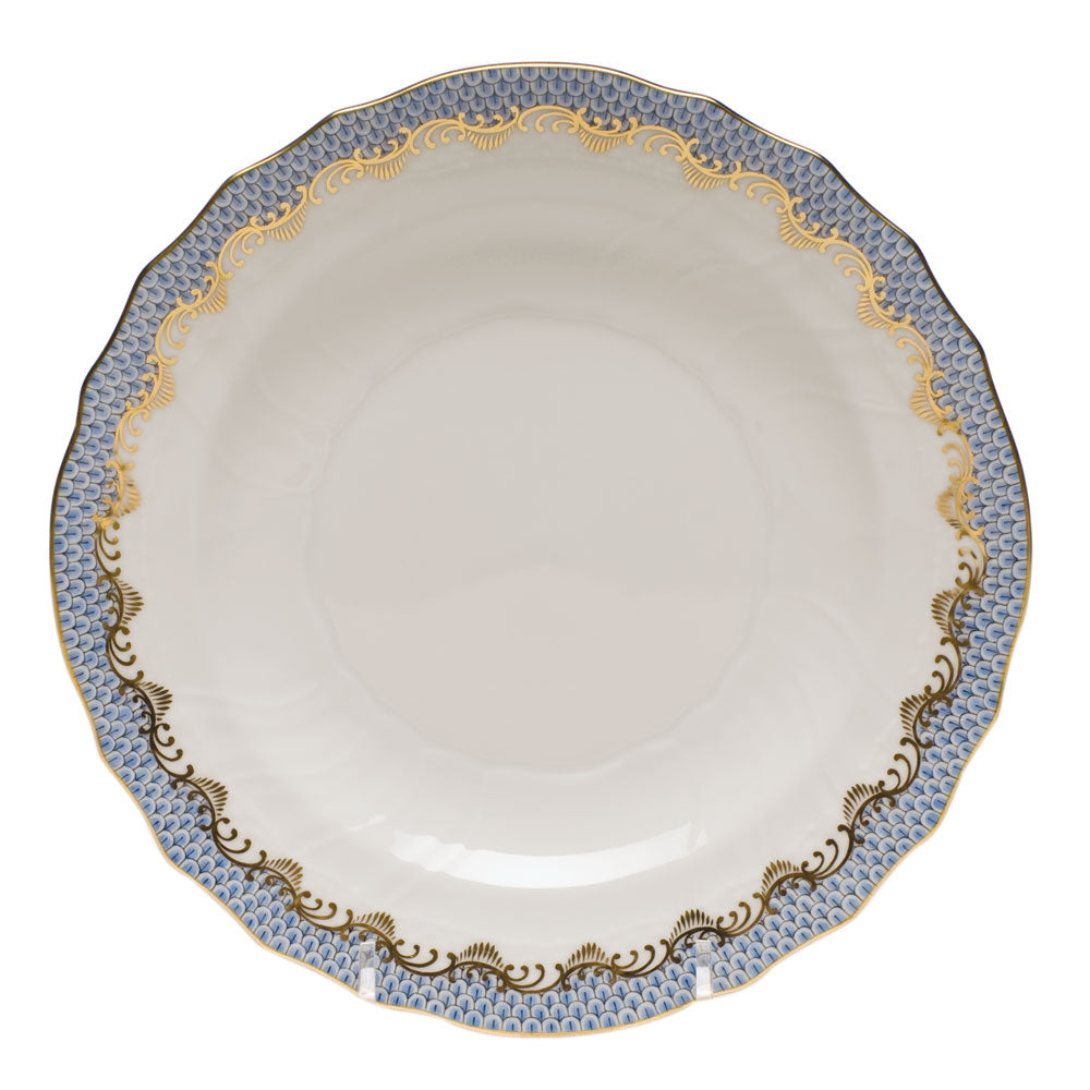 Herend Fish Scale Salad Plate, Light Blue