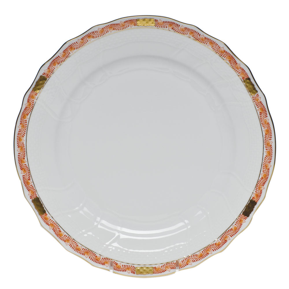 Herend Chinese Bouquet Garland Dinner Plate, Rust