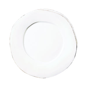 Vietri Lastra European Dinner Plate, White