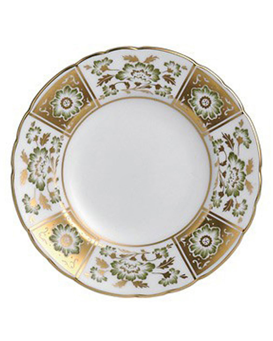 Royal Crown Derby Panel Bread & Butter, Green
